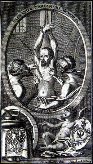 Jan Sarkander - A 1715 image of his torture.