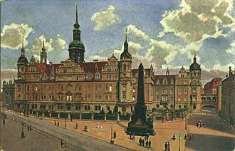 Dresden Castle - The castle in 1896