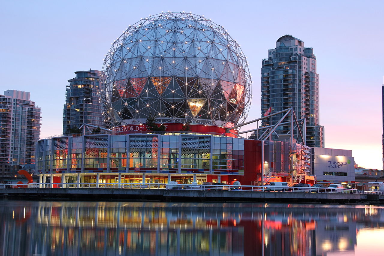 Science World at Telus World of Science; Vancouver, British Columbia,Canada; Wikipedia user Differense [1280 x 853]