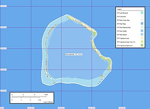 Manuae (Society Islands) - Image: Scilly Atoll map