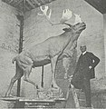 Sculptor Basil Gotto With His Caribou Statue ca1921.jpg