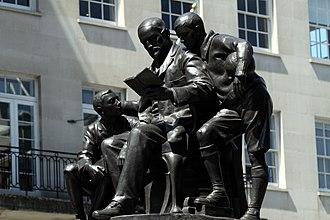 Quintin Hogg (merchant) - Memorial statue in Portland Place