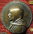 Scuola fiorentina, medaglia di savonarola con pugnale e colomba.JPG