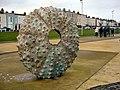 Sea Urchin sculpture at Dun Laoghaire - geograph.org.uk - 913262.jpg