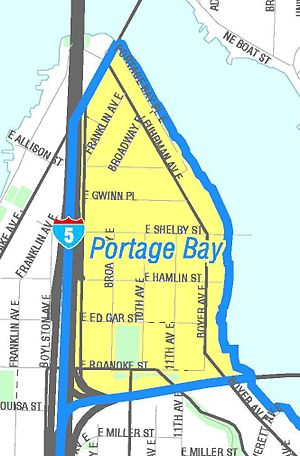 Portage Bay - Map of the neighborhood named for the bay