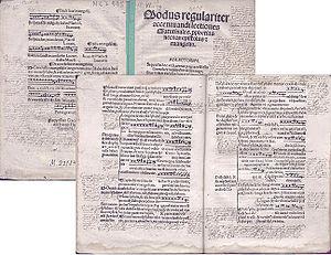 Sebastian z Felsztyna - Image: Sebastianus de Felstin Modus regulariter accentuandi lectiones