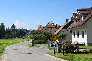 Sebenje Place in Upper Carniola, Slovenia