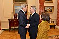 Secretary Kerry Greets U.K. Ambassador to the U.S. Westmacott at a Farewell Reception in the Ambassador's Honor (23609430133).jpg