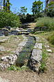 Section of the Hadrianic aqueduct near the Ancient Agora, Athens (14026314206).jpg