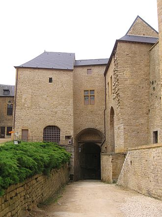 Principality of Sedan - Inside the fortifications of the Château de Sedan.
