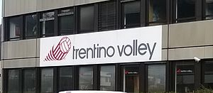 Trentino Volley - Logo club in the Building of the Trentino