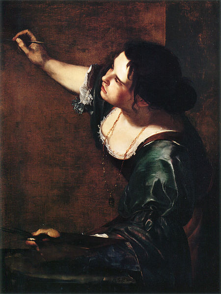 Self-portrait as the Allegory of Painting (Self-portrait as La Pittura). Oil on canvas, 965 x 737 mm (39 x 29
