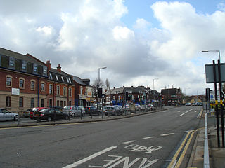 Selly Oak industrial and residential area in southwest Birmingham, England