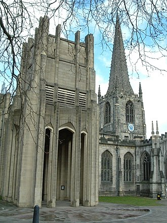 Sheffield Cathedral - Image: Sheffield Cath SS P&P