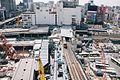 Shibuya Station from Shibuya Hikarie 2016-04-11 2.jpg