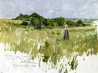 Shinnecock Hills, New York - Shinnecock Hills, oil on panel, 1891. William Merritt Chase