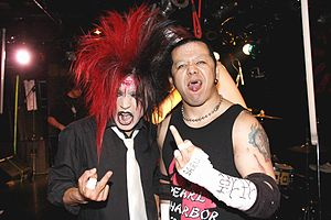 Anti Feminism - Drummer Shizuki in 2009, with Jun Kasai.