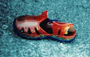 1980s in Western fashion - A jelly shoe.