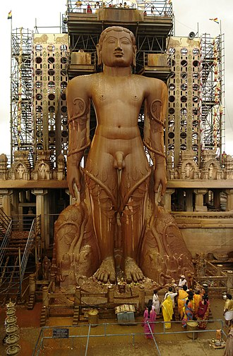 Statue - Gommateshwara statue in India, one of the largest ancient monolithic statue in the world.