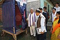Shri Thangso Baite, MP, Lok Sabha of Manipur inspecting a low cost toilet model during the Bharat Nirman Public Information Campaign, at Khangshim Village, Chandel District, Manipur on October 29, 2013.jpg