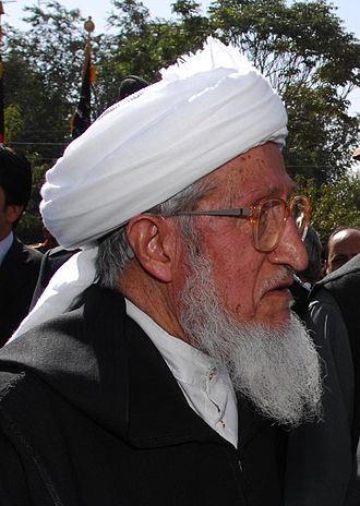 House of Elders (Afghanistan) - Image: Sibghatullah Mojaddedi of Afghanistan in 2009