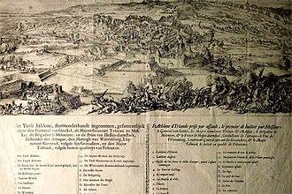 Siege of Athlone - Siege of Athlone 1691, engraving.