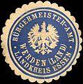 Siegelmarke Bürgermeister - Amt Werden (Land) - Landkreis Essen W0219777.jpg