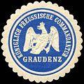 Siegelmarke Königlich Preussische Commandantur Graudenz W0307421.jpg