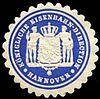 Siegelmarke Königliche Eisenbahn - Direction - Hannover W0229531.jpg