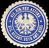 Siegelmarke Königliche Eisenbahn Betriebs Amt Kiel - Eisenbahn Direktions Bezirk Altona W0219797.jpg