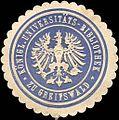 Siegelmarke Königliche Universitäts - Bibliothek zu Greifswald W0214110.jpg