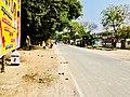 Signage beside the road staring distance to Amaravati from Dharanikota.jpg