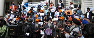 Sikh Coalition - Demonstrators marching against bullying in schools in Richmond Hill,NY on June 30, 2008