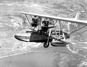 Sikorsky S-38 - Sikorsky PS-3, serving  as a transport for the Eleventh Naval district. VJ-5 D11-4 (8285), photographed  in March 1930.