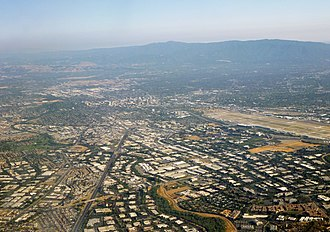 Silicon Valley - Silicon Valley, as seen from over north San Jose, facing southward towards Downtown San Jose, in June 2014