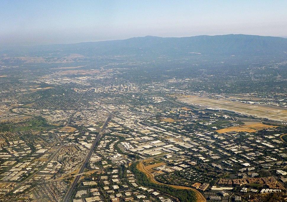 Silicon Valley, facing southward towards Downtown San Jose, 2014