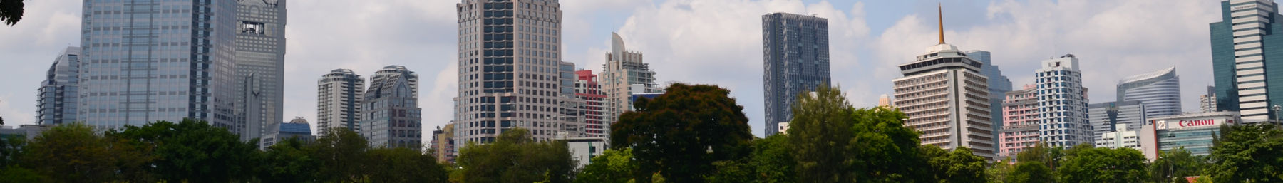 Silom's skyline as seen from Lumphini Park