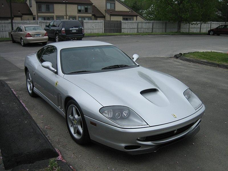 File:Silver Ferrari 550.jpg