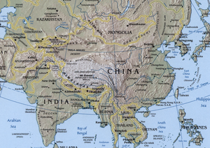 Map Of Eastern And Southern Asia