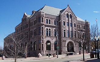 Sioux Quartzite - The Federal Building in Sioux Falls, South Dakota was constructed with Sioux quartzite from nearby quarries.