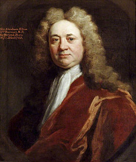 Sir Abraham Elton, 2nd Baronet British Whig Member of Parliament