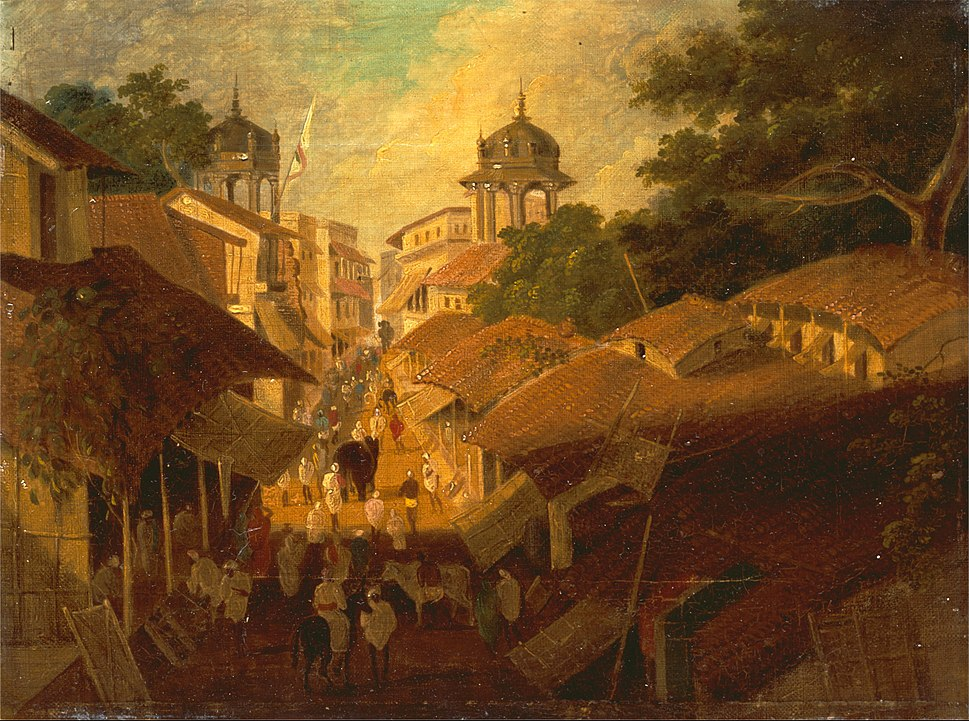 Sir Charles D%27Oyly - Street in Patna - Google Art Project