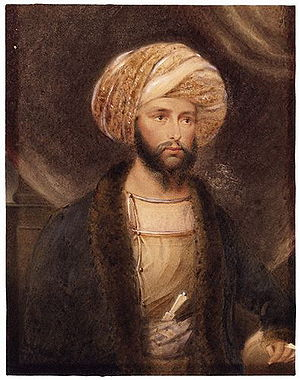 James Abbott (Indian Army officer) - James Abbott in Afghan dress. (B. Baldwin, 1841)