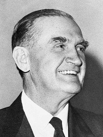 National Party of Australia - Sir John McEwen, Prime Minister of Australia 1967-68.