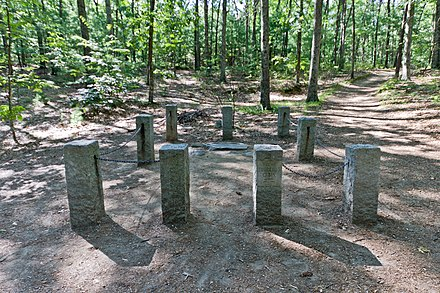 The site of Henry David Thoreau's cabin at Walden Pond in Concord Site of Thoreau's cabin.JPG