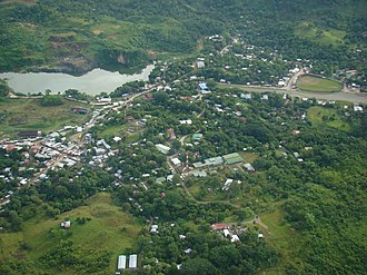 Siuna, Nicaragua - Aereal view of Siuna on the  morning of 20 October 2008