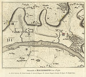 Raid of Richmond - Image: Skirmish at Richmond Jan 5th 1781