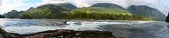 Skookumchuck Narrows - Skookumchuck Narrows at high tide