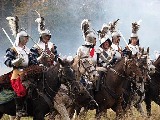 Slag om Grolle 2008-2 - Cavaleriesoldaten overleggen wat te doen