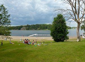 Slagsta - Image: Slagstabadet 2012a